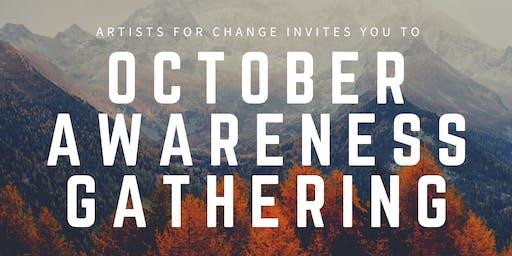 Artists for Change - October Awareness Gathering