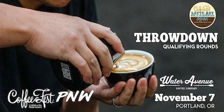 Coffee Fest PNW Latte Art Throwdown Qualifying Rounds @ Water Avenue Coffee tickets