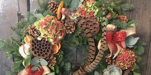 christmas wreath work shop