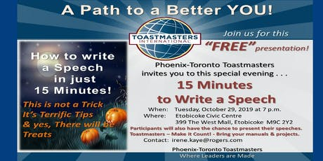 How to Write a Speech in 15 Minutes! tickets