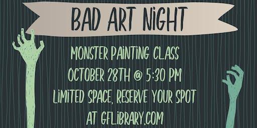 Bad Art Night - Monster Paintings