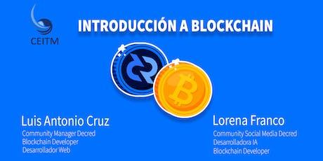 Introducción a Blockchain   Bitcoin  & Decred entradas