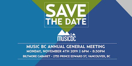 Music BC Annual General Meeting tickets