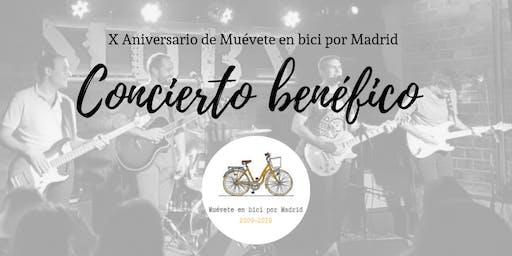 10 años de Muévete en bici por Madrid. Concierto benéfico y fiesta