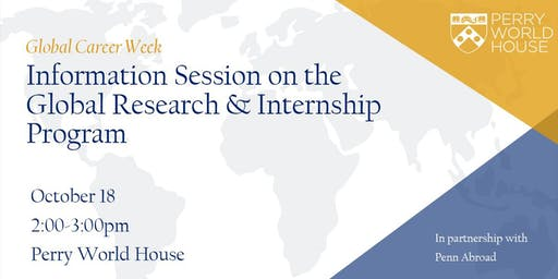 Global Career Week: Information Session on  Penn Abroad GRIP