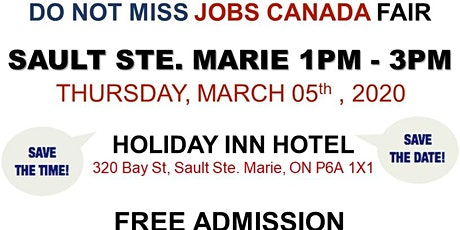 Sault Ste. Marie Job Fair – March 05th, 2020 tickets