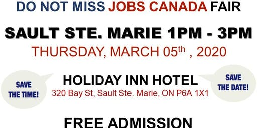 Sault Ste. Marie Job Fair – March 05th, 2020
