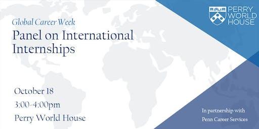 Global Career Week: Panel on International Internships