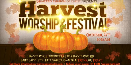 Metro Church Presents: Harvest Worship and Festival tickets