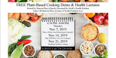 FREE Plant-Based & Gluten-Free Cooking Demo w/ Health Lectures