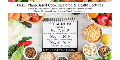 FREE Plant-Based & Gluten-Free Cooking Demo w/ Health Lectures tickets