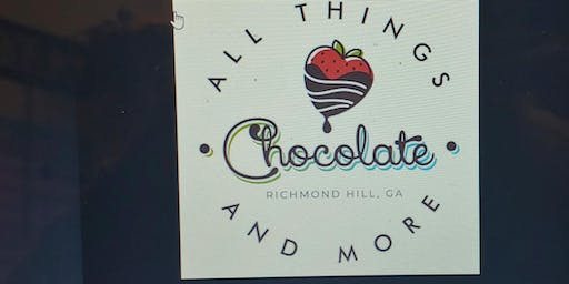 Paint n' Sip Party at All Things Chocolate Cafe