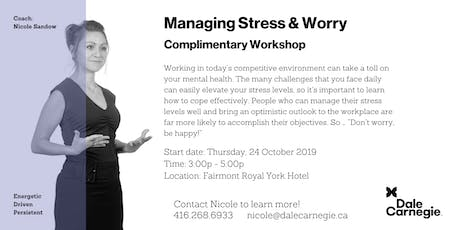 Managing Stress & Worry tickets