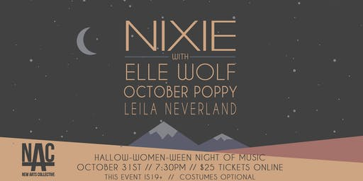 HALLOW-WOMEN-WEEN with NIXIE, ELLE WOLF, OCTOBER POPPY, and LEILA NEVERLAND