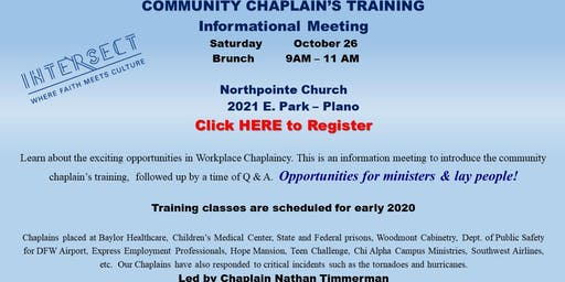 Community Chaplain's Informational Meeting