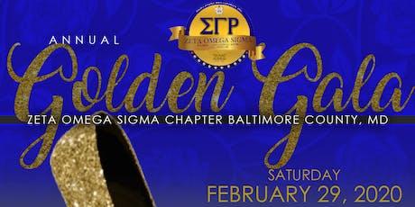 ZOS Annual Golden Gala tickets