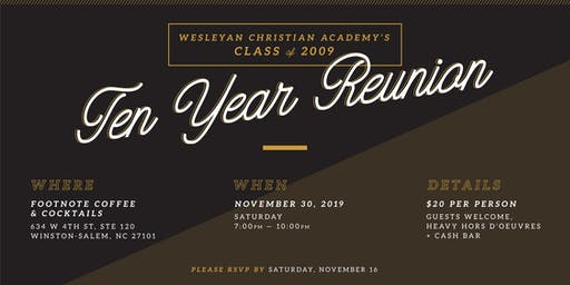 WCA Class of 2009: 10 Year Reunion