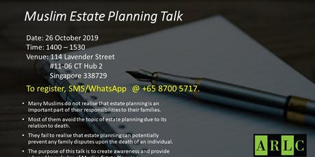 Estate Planning for Muslims tickets
