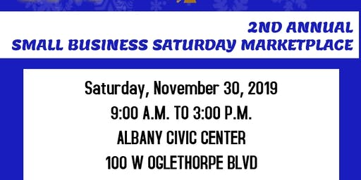2nd Annual Small Business Saturday Marketplace Vendor Event