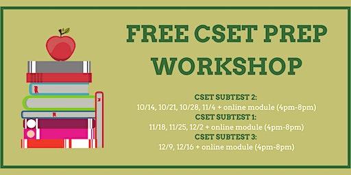 CSET Subtest Prep Workshops