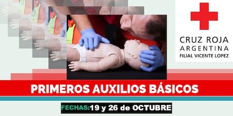 Curso de Primeros Auxilios Pediatricos,19 Y 26 DE OCTUBRE (8.30 a 13.30hs) entradas
