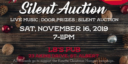 Silent Auction Christmas Hamper Kickoff