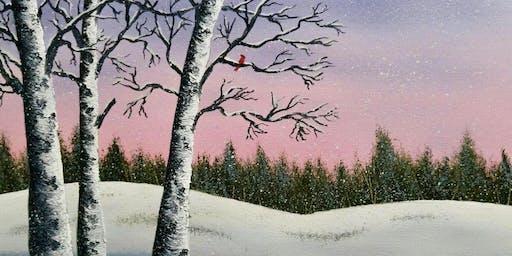 Oil Painting + Winter Birches @ Spenard Art Studio