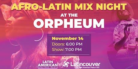 Afro Latin Mix Night tickets