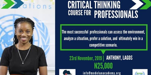 Critical Thinkng Course for Professionals - November Edition