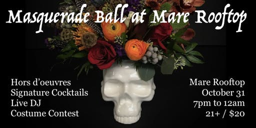 Halloween Masquerade Ball at Mare Rooftop