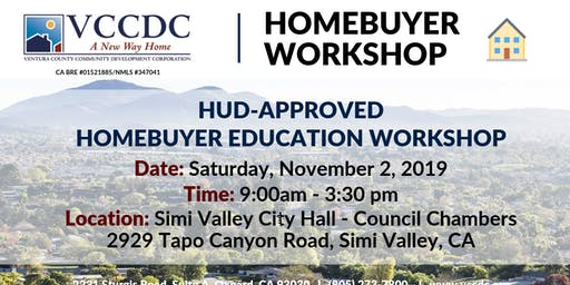 VCCDC & City of Simi Valley - Homebuyer Education Workshop November 2019