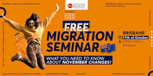 Free Migration Seminar Brisbane (October 2019)
