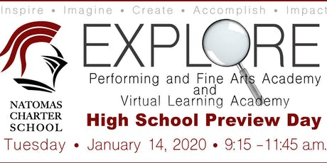 Preview Day 2020 Natomas Charter School PFAA and VLA (Middle/High School) tickets