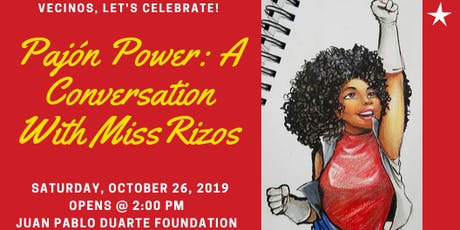 Pajón Power: A conversation with Miss Rizos  tickets