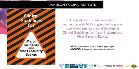 Clinical Guidelines for Major Incidents and Mass Casualty Events tickets