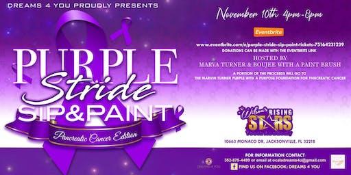 Purple Stride Sip & Paint
