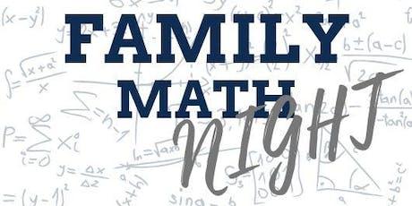 Family Math Night tickets