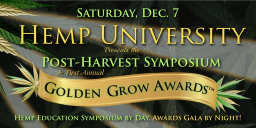 Hemp University Year-End Symposium and Golden Grow Awards Gala