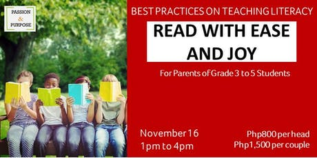 Read with Ease and Joy tickets