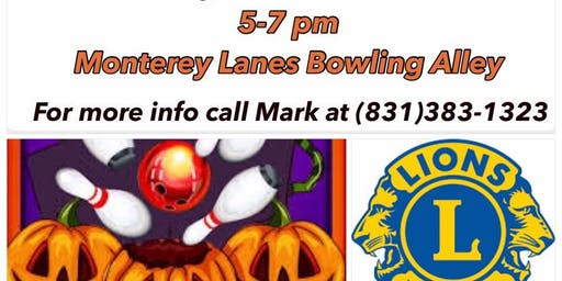 Lions Club Monster Mash Bowling Night 10/26