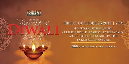 Barrie's Diwali Bash - Festival of Lights