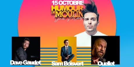 Humour du Moulin - 15 octobre billets
