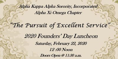 """The Pursuit of Excellent Service"" - 2020 Founders' Day Luncheon"