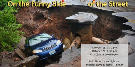 On the Funny Side of the Street: dinner and political comedy show tickets