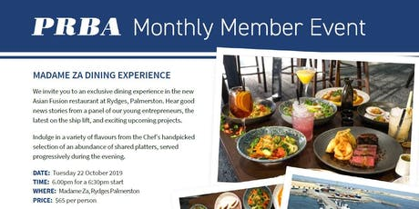 Madame Za Dining Experience tickets