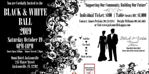 Black & White Ball 2019                                                                                                                                                                          Presented by The Kappa Alpha Psi Jacksonville Foundation, Inc.