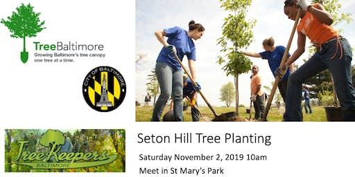 Seton Hill Tree Planting