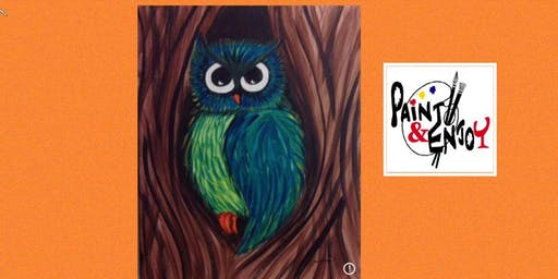 "Paint and Enjoy at Naylor Wine Shoppe ""Owl"""