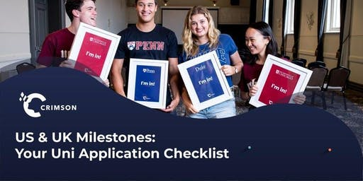 [Hanoi] US & UK Milestones: Your University Application Checklist