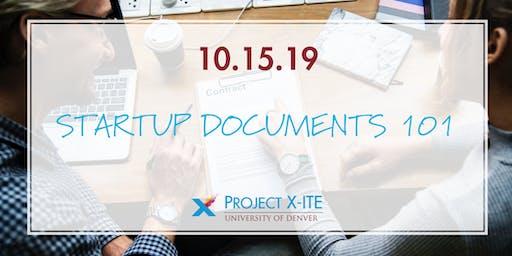 X-ITE WORKSHOP: Startup Documents